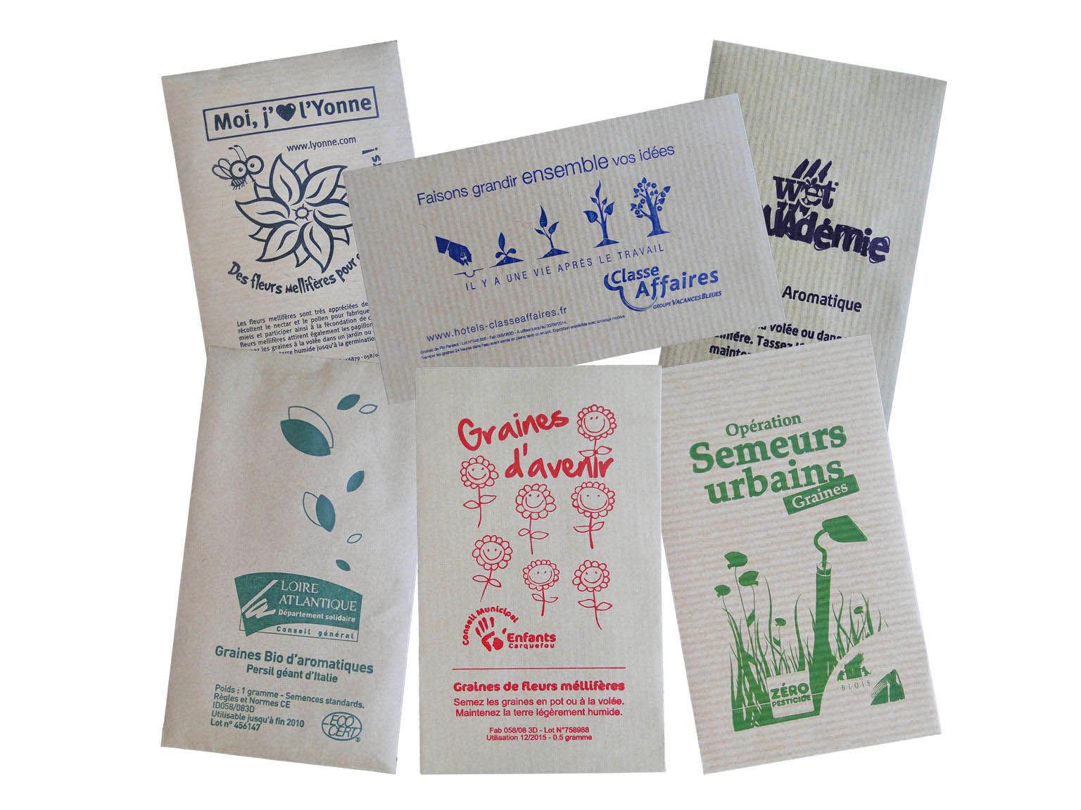 Petit Sachet De Graines Kraft   Graines Publicitaires 12